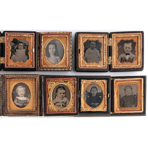 Assorted Daguerreotype, Ambrotype and Tintype Portraits of Children, Plus, Lot of 24