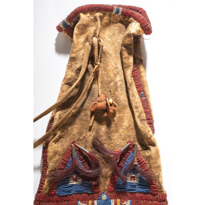 Sioux Beaded and Quilled Tobacco Bag, From the Collection of Robert P. Jerich, Illinois