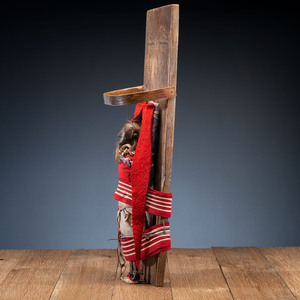 Eastern Woodlands Doll Cradle, with Doll, From the Collection of Robert Jerich, Illinois
