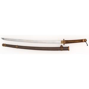 Japanese Samurai Sword (Katana) in Shin-Gunto Mounts