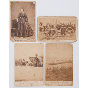 New York 17th Regiment, Group of Four CDVs Incl. Scenes by Brady and Nurse