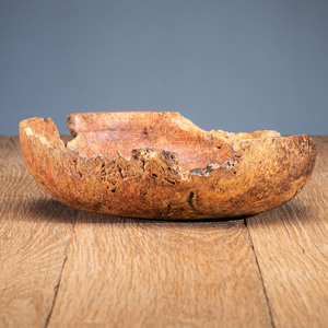 Plains Carved Burl Wood Bowl, From the Collection of Robert Jerich, Illinois
