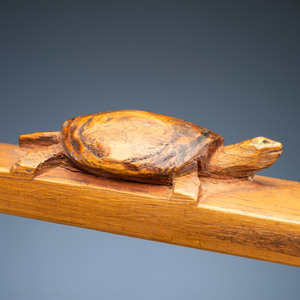 Standing Rock Sioux Carved Pipe Stem with Catlinite Bowl, From the Collection of Robert Jerich, Illinois