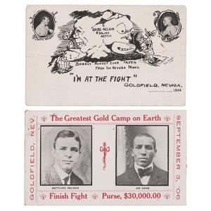 Joe Gans vs. Battling Nelson, Goldfield, Nevada, 1906 Fight Postcards