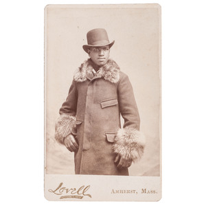 CDV of Well-Dressed African American Man by Lovell, Amherst, Massachusetts, circa 1870