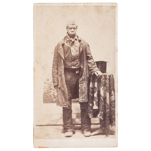 African American Man in Coat, CDV, circa 1870