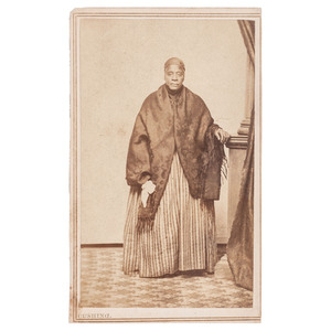 African American Woman with Black Shawl, CDV, Woodstock, Vermont, circa 1868