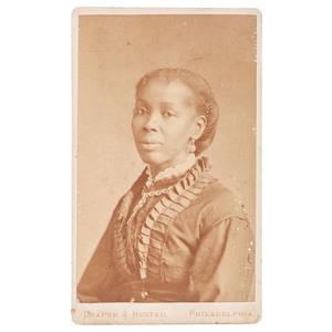 Seated African American Woman, CDV, Philadelphia, circa 1885