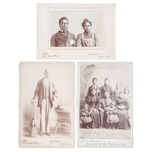 Railroad Cabinet Cards Featuring African American Subjects, circa 1900
