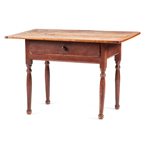 A New England Queen Anne Turned Maple Scrubbed Top Table