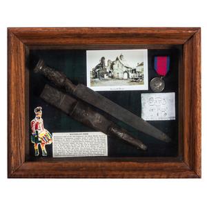 Waterloo Dirk of the 42d Regiment, Black Watch, in a Shadow Box Frame