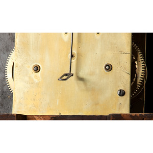 A Mahogany Arched and Pierced Bonnet Tall Case Clock