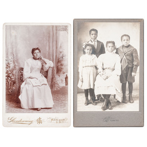 Cabinet Card Portrait of Rosa Simmons, Wife of Calvin Simmons, circa 1896, Plus