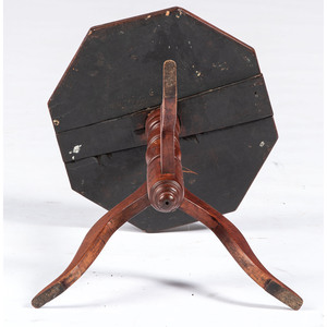 A Federal Octagonal Top Cherrywood Candlestand