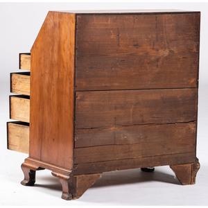 A Federal Carved Cherrywood Slant Front Desk