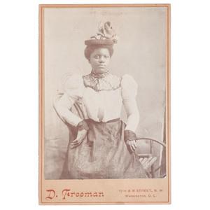 Cabinet Card Portrait of Elegant African American Woman, Washington DC, circa 1890