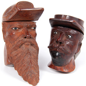 Civil War Folk Art Pipes Carved in the Likenesses of Soldiers, Property of N. Flayderman & Co.