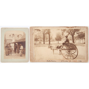 Photographs with African American Subject Matter, Incl. Photograph of Family by Barker and Jim Crow-Era Boudoir Card
