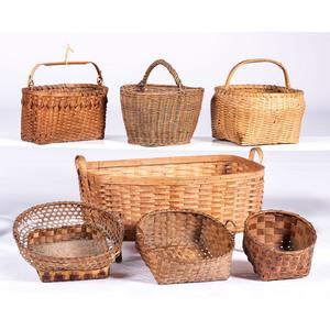 Seven American Woven Baskets