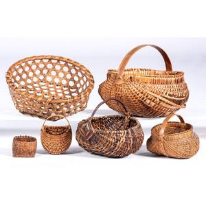 Six American Woven Baskets