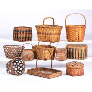 Eleven American Woven Baskets