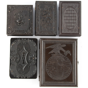 Lot of Five Union Cases Ranging in Scarcity from Rare to Very Very Rare, Incl. Eagle Over the Earth [Berg 1-20]