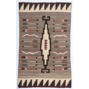 Navajo Regional Weaving, with Bows and Arrows