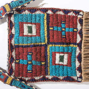 Sioux Beaded Hide Bag