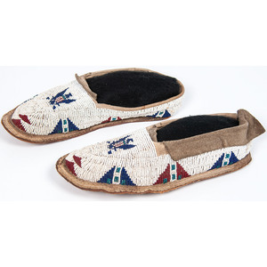 Plains Beaded Moccasins, with Spread Eagle Design