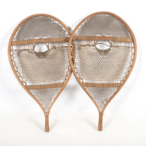 Northeastern Woodlands Swallowtail Snowshoes, Possibly Naskapi