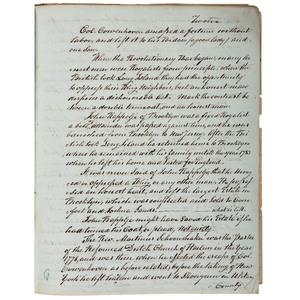 Handwritten Reminiscence of Revolutionary-Era Brooklyn and New York, Ca 1845