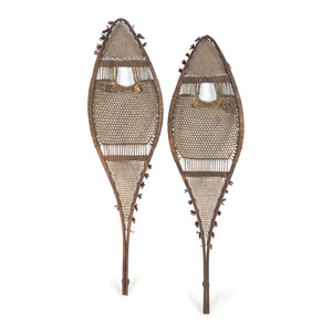 Plains Bentwood Snowshoes, Possibly Cree