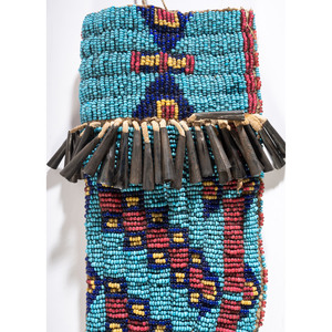 Sioux Beaded Knife Sheath, with Knife, From the Collection of Robert Jerich, Illinois