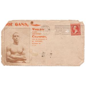 Joe Gans, World's Colored Lightweight Champion Cover, Baltimore, 1902