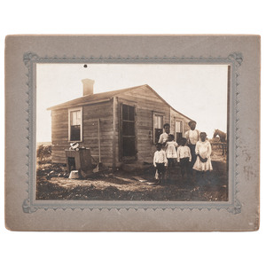 African American Family and Home, Oversized Photograph, South Dakota, circa 1900