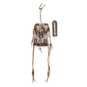 Cheyenne Strike-a-Light, with Wrought Iron Striker, From the Collection of Robert Jerich, Illinois