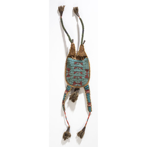 Sioux Beaded Buffalo Hide Bag, From the Collection of Robert Jerich, Illinois