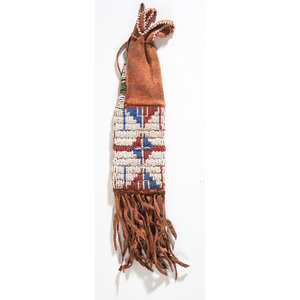 Sioux Beaded Hide Paint Bag, From the Collection of Robert Jerich, Illinois