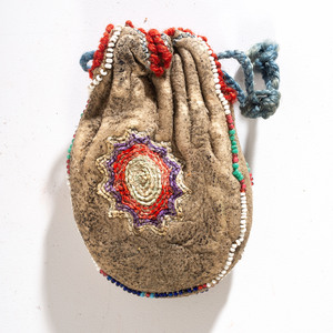 Early Sioux Quilled Amulet Bag, From the Collection of Robert P. Jerich, Illinois