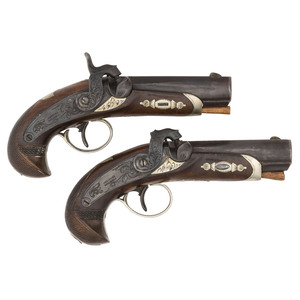Pair of Percussion Deringer Pistols