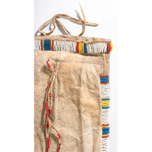 Sioux Beaded Pictorial Tobacco Bag, From the Collection of Robert Jerich, Illinois