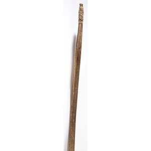 Plains Sinew-Backed Recurve Bow with Quillwork, and Arrows