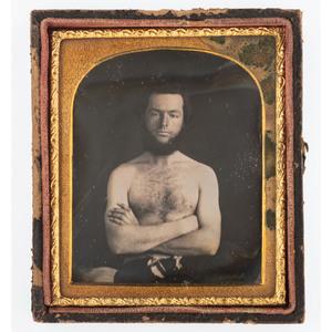 Sixth Plate Daguerreotype of Bare-Knuckle Boxer John Morrissey