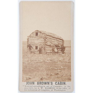 CDV of John Brown's Cabin