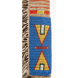 Sioux Beaded and Quilled Rifle Scabbard, From the Collection of Robert Jerich, Illinois