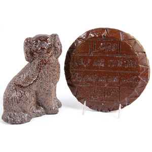 An Ohio Sewertile Plaque & Dog