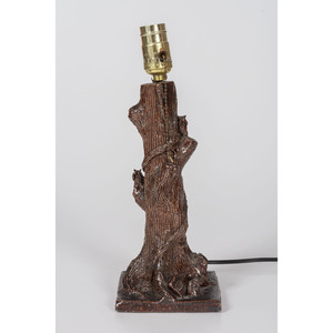 An Ohio Sewer Tile Tree Trunk Lamp