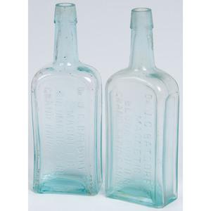 Two Mold Blown Grand Rapids, Michigan Patent Medicine Bottles
