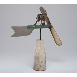 A Painted Wood Running Horse Whirligig