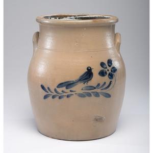 A New York Bird on Branch Four-Gallon Stoneware Crock